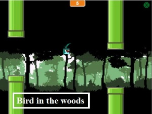 Bird in the woods